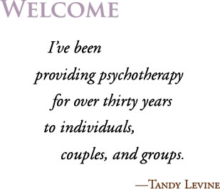 Welcome. I've been providing psychotherapy for over thirty years for individuals, couples, and groups.